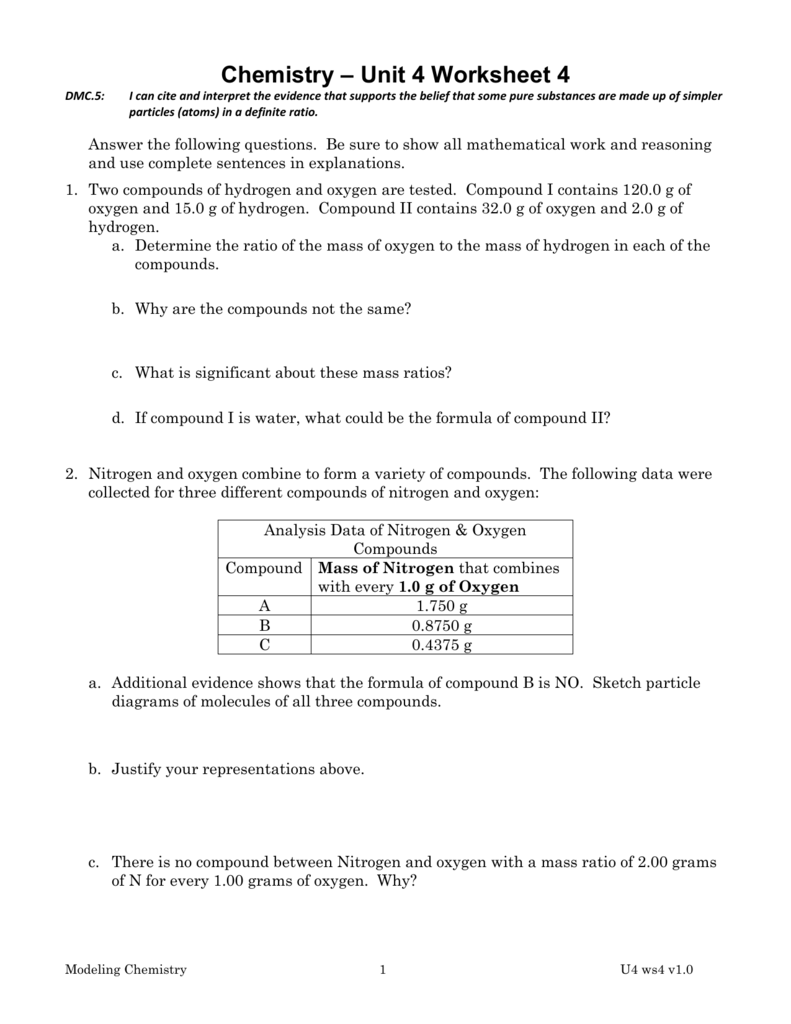 Chemistry Unit 4 (C4) - Revision Packs | Teaching Resources