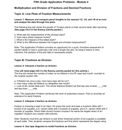 fifth grade application problems module 4 multiplication and division of fractions and decimal fractions topic a line plots of fraction measurements  [ 791 x 1024 Pixel ]
