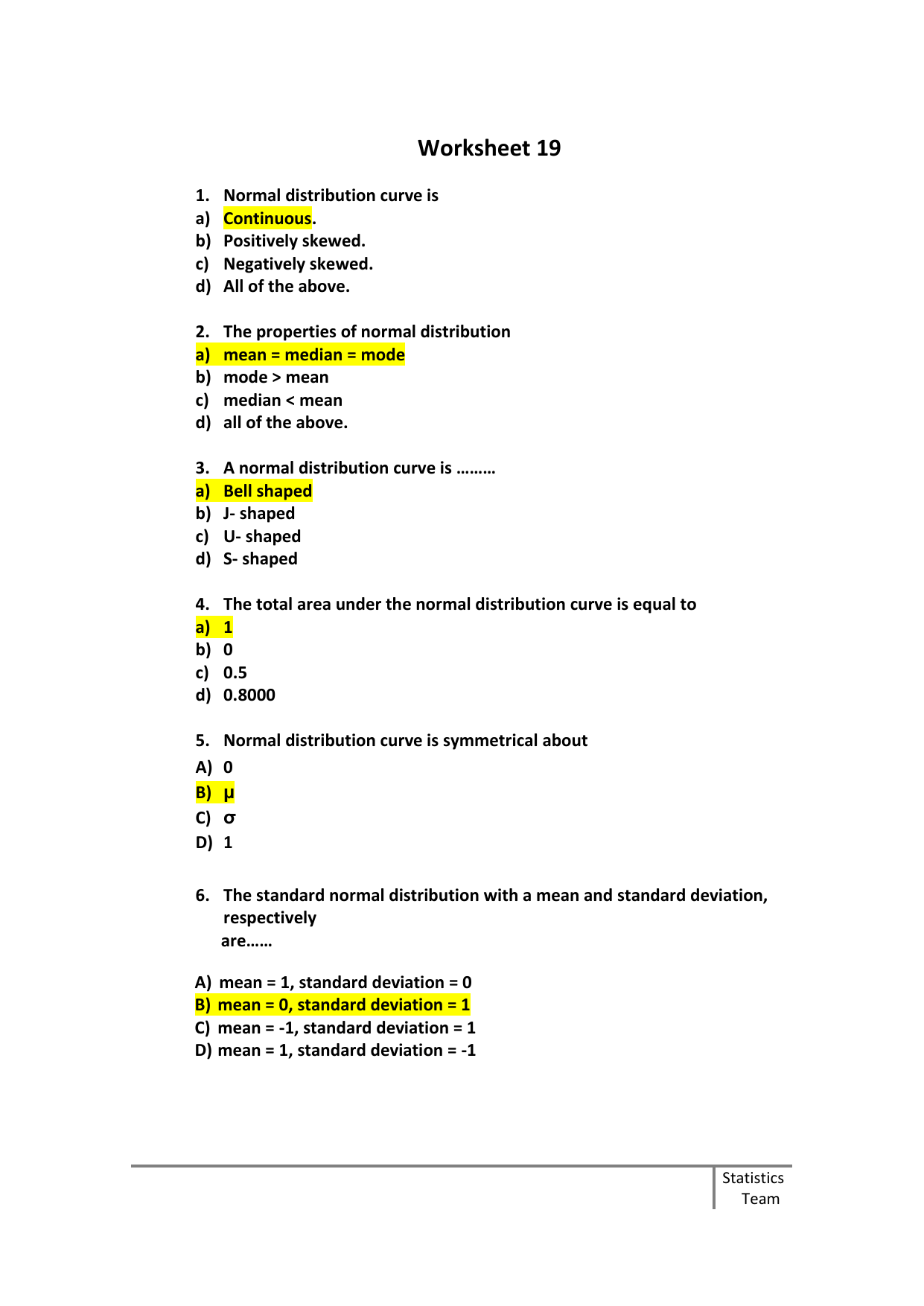 Worksheets Ch6