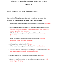 30 Volcanoes And Plate Tectonics Worksheet Answers - Worksheet Resource  Plans [ 1024 x 791 Pixel ]