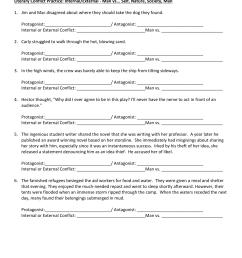 Protagonist Vs Antagonist Worksheet   Printable Worksheets and Activities  for Teachers [ 1651 x 1275 Pixel ]