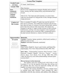 Lesson Plan Template - URI [ 1024 x 791 Pixel ]