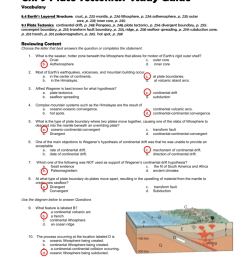 The Theory Of Plate Tectonics Worksheet Answers - Promotiontablecovers [ 1024 x 791 Pixel ]