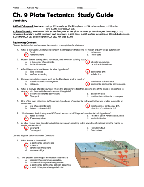 small resolution of The Theory Of Plate Tectonics Worksheet Answers - Promotiontablecovers