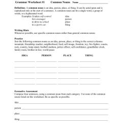 Grammar Worksheet #1 [ 1024 x 791 Pixel ]