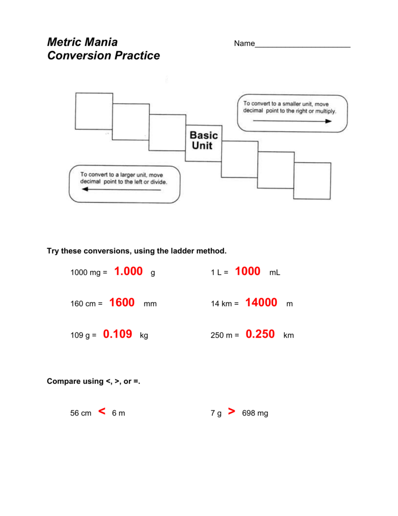 medium resolution of Metric Mania - Grade 9 Science