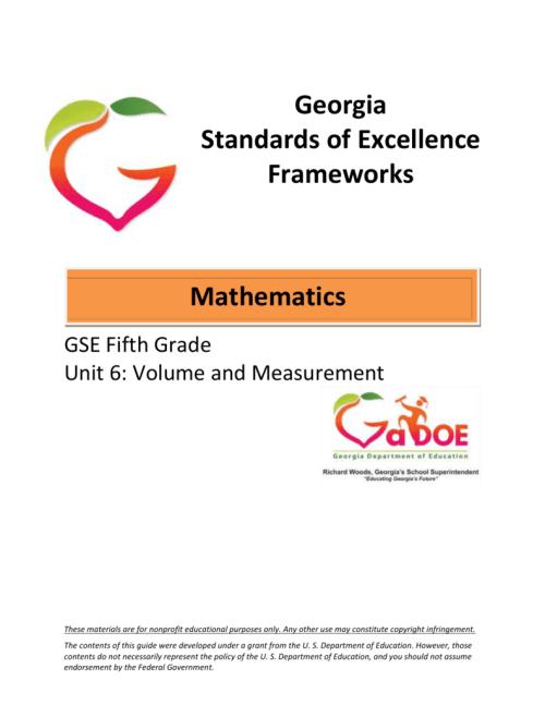 small resolution of 5-Math-Unit-6 - Georgia Mathematics Educator Forum: Grades