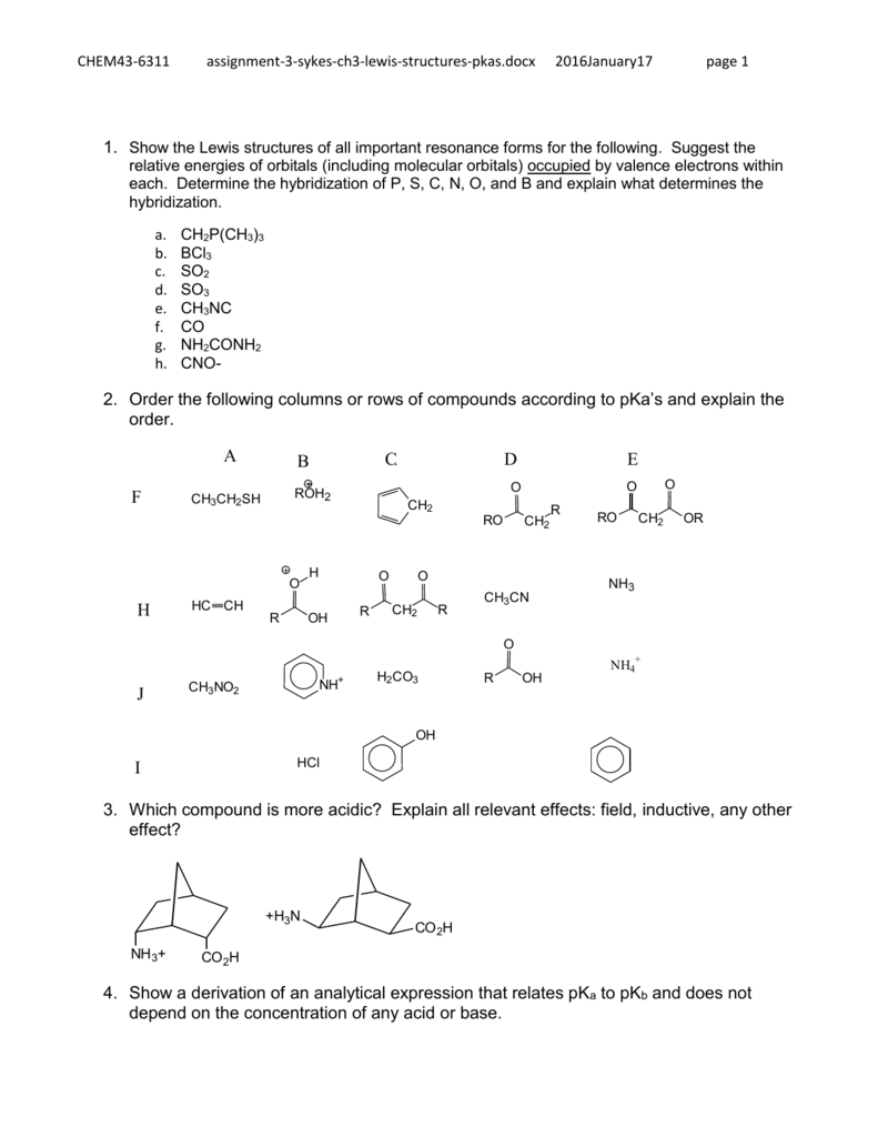 Does So3 Have Resonance : resonance, Sykes, Problems, Lewis, Structures,