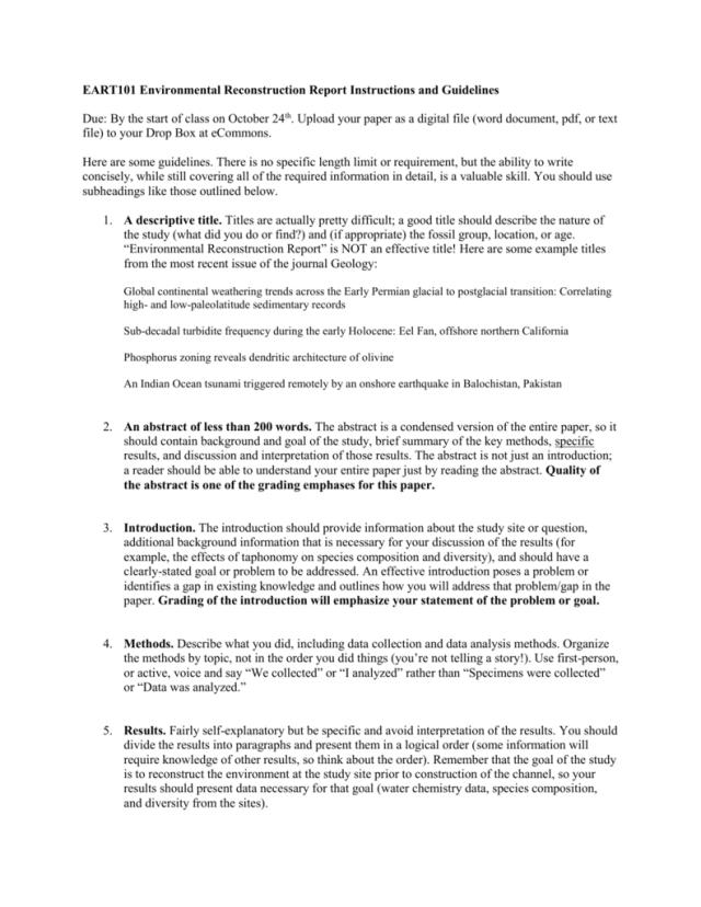env_report_guidelines
