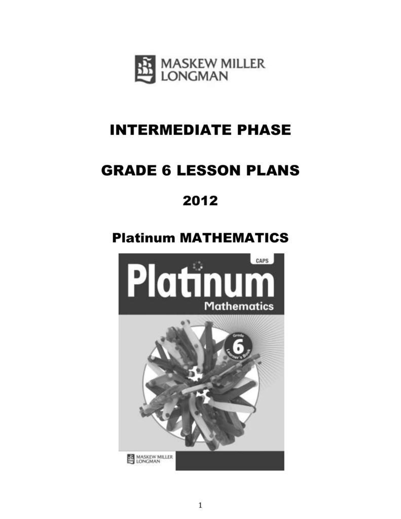 medium resolution of platinum lesson plans – grade 6