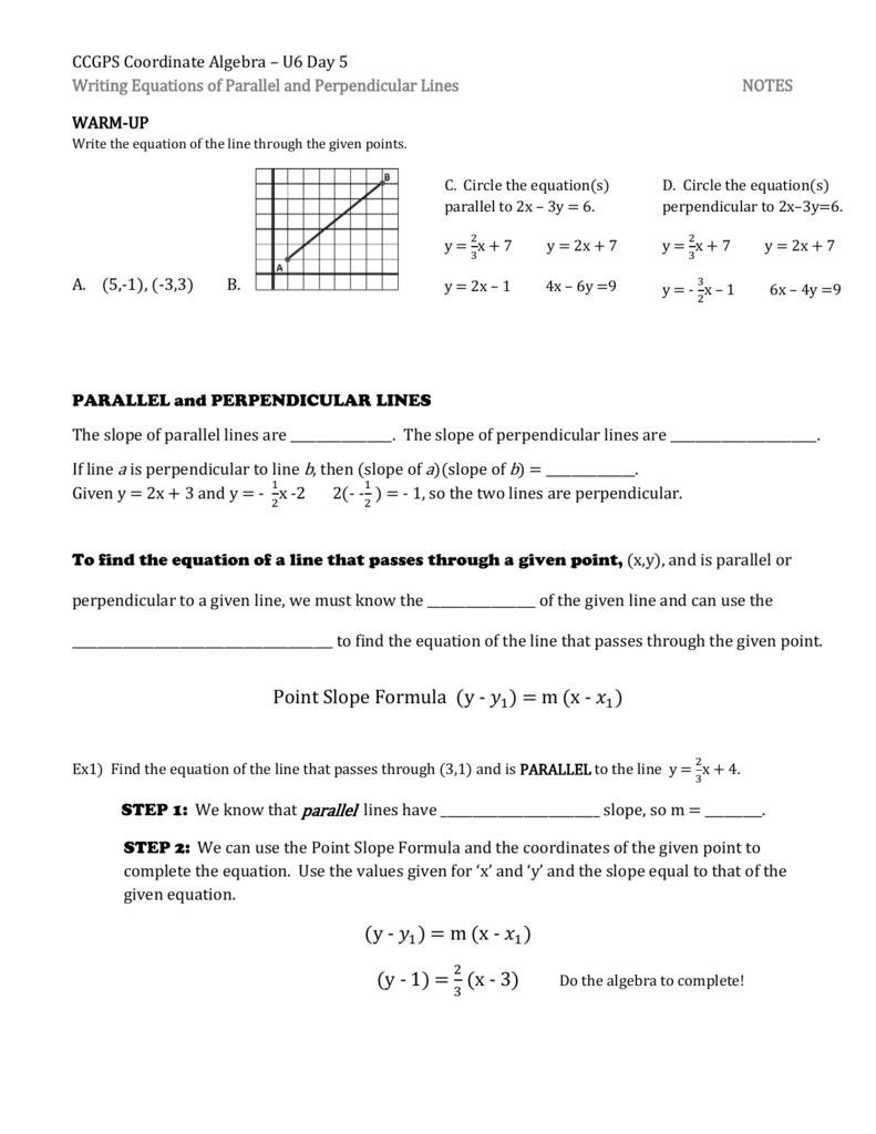 medium resolution of Writing Equations Of Parallel And Perpendicular Lines Worksheet -  Promotiontablecovers