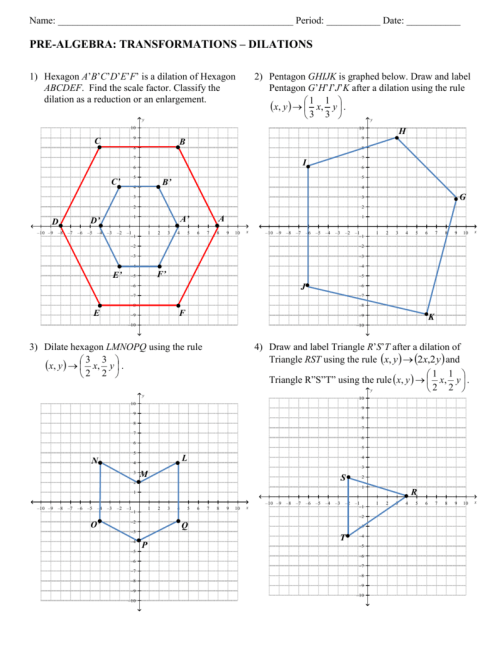 small resolution of Pre Algebra Worksheet