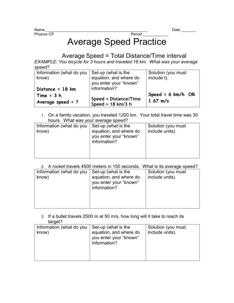 medium resolution of Average Speed Problems - Free Photos