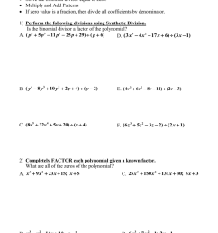 35 Dividing Polynomials Long And Synthetic Division Worksheet Answers -  Worksheet Project List [ 1024 x 791 Pixel ]