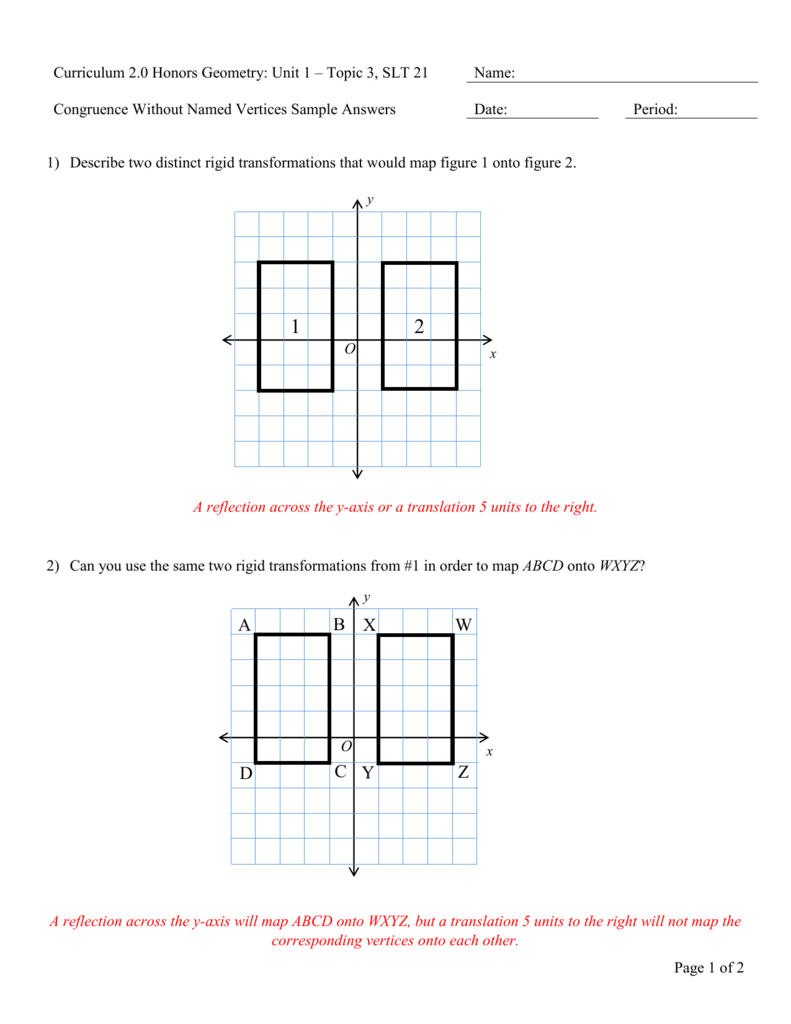 U1SLT21H Congruence Without Named Vertices Sample Answers