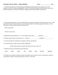 worksheet. Naming Acids And Bases Worksheet Answers ...
