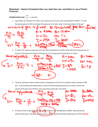 worksheet. Gas Laws Worksheet Answers. Worksheet Fun