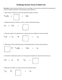 Nuclear Decay Reactions Worksheet - Kidz Activities