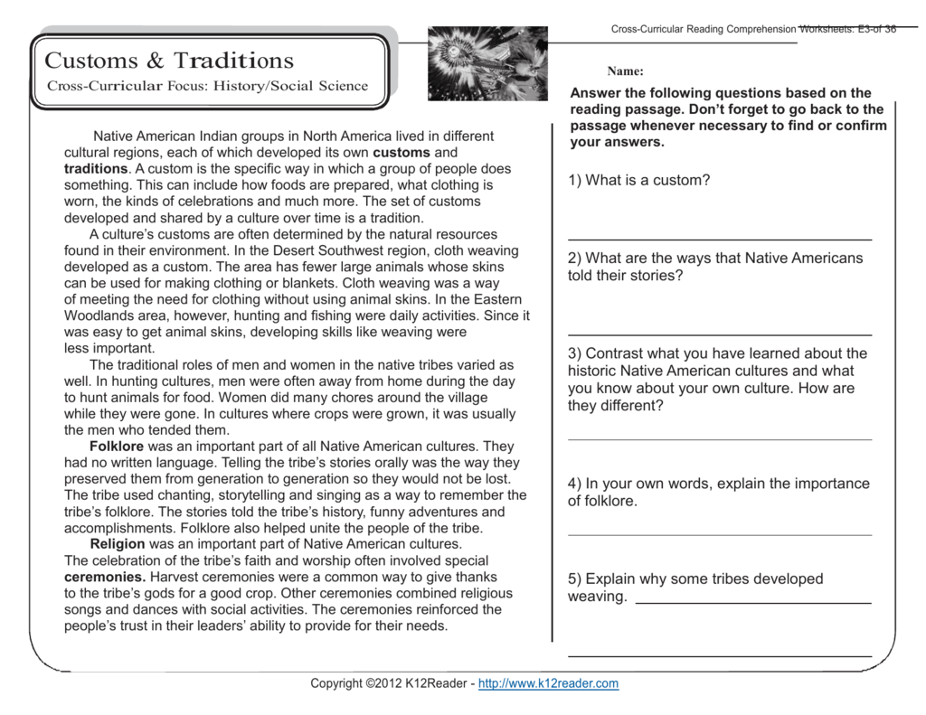 5th Grade Reading Comprehension Worksheets