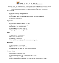 detailed for 5th grade checklist [ 1651 x 1275 Pixel ]