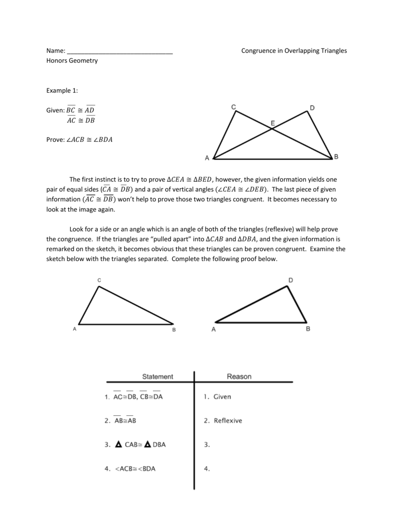 Overlapping Triangles Intro And Examples