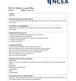NCEA Math Lesson Plan Grade: 3 Subject: Mathematics Domain [ 1024 x 791 Pixel ]