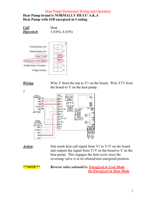 small resolution of heat pump thermostat wiring and operation