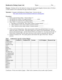 Radioactive Dating Worksheet Worksheets For School - Dropwin