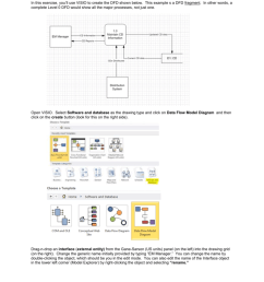 microsoft visio in this exercise you ll use visio to create the dfd shown below this example s a dfd fragment in other words a complete level 0 dfd  [ 791 x 1024 Pixel ]
