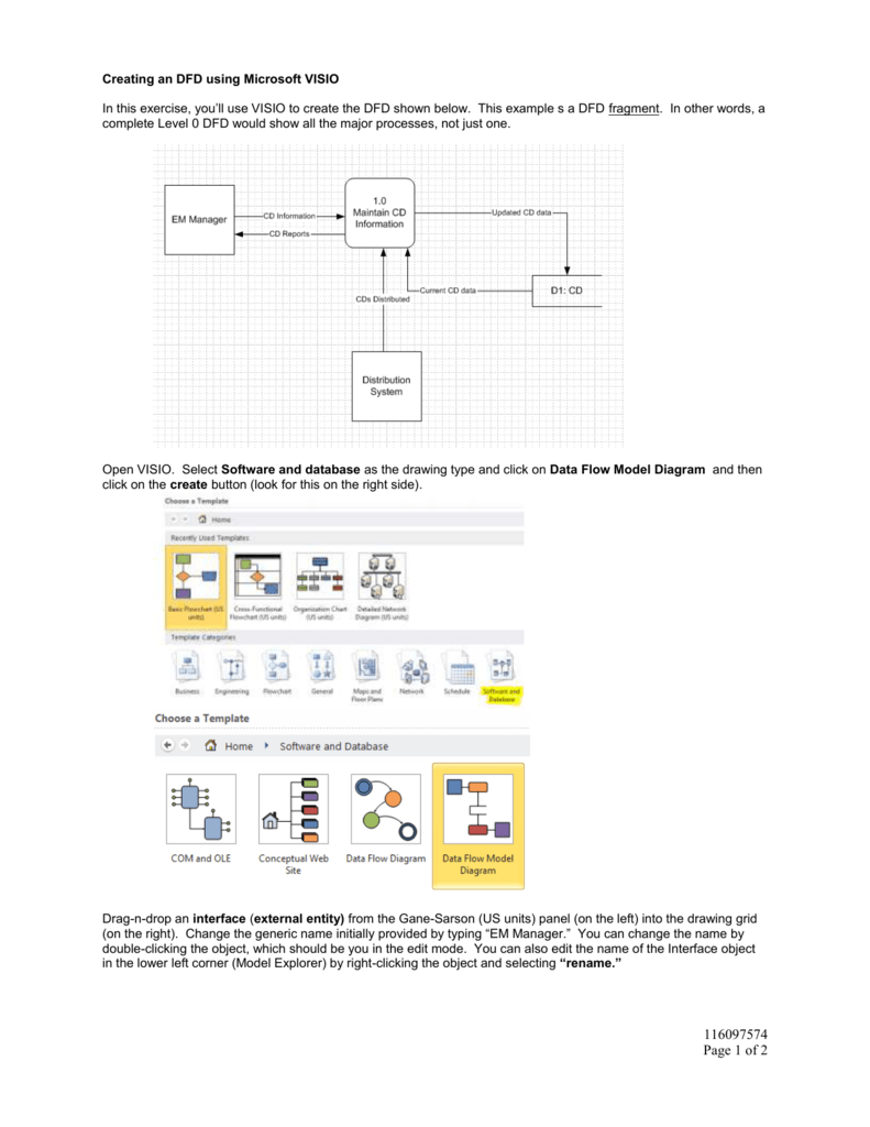 hight resolution of  microsoft visio in this exercise you ll use visio to create the dfd shown below this example s a dfd fragment in other words a complete level 0 dfd