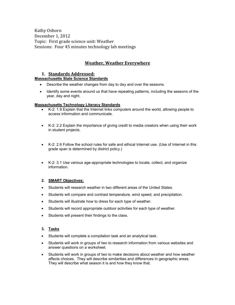 medium resolution of Weather Webquest