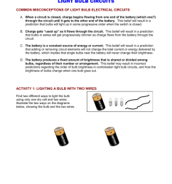 woodrow wilson summer 2010 light bulb circuits common misconceptions of light bulb electrical circuits a when a circuit is closed charge begins flowing  [ 791 x 1024 Pixel ]