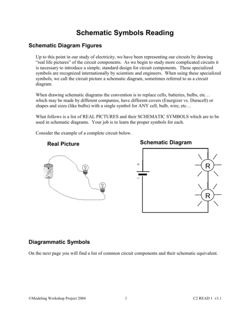 small resolution of schematic symbols reading schematic diagram figures up to this point in our study of electricity we have been representing our circuits by drawing real