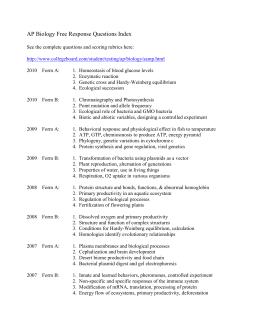 AP Biology Chapter 27 Worksheets