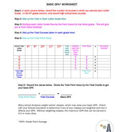 1-2 GPA Worksheet [ 1024 x 791 Pixel ]