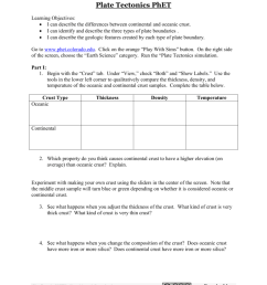 Plate Tectonic Worksheet Answers - Nidecmege [ 1024 x 791 Pixel ]