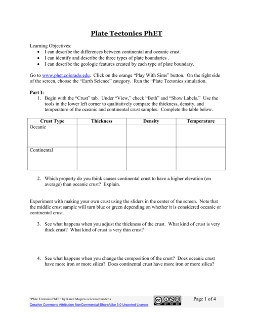 small resolution of Plate Tectonic Worksheet Answers - Nidecmege