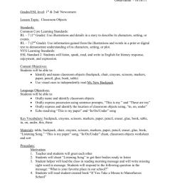 Grades/ESL level: 1st \u0026 2nd/ Newcomers [ 1024 x 791 Pixel ]