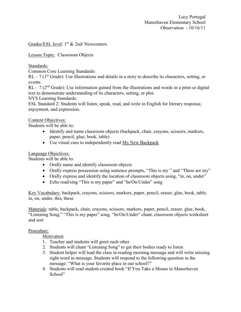 hight resolution of Grades/ESL level: 1st \u0026 2nd/ Newcomers