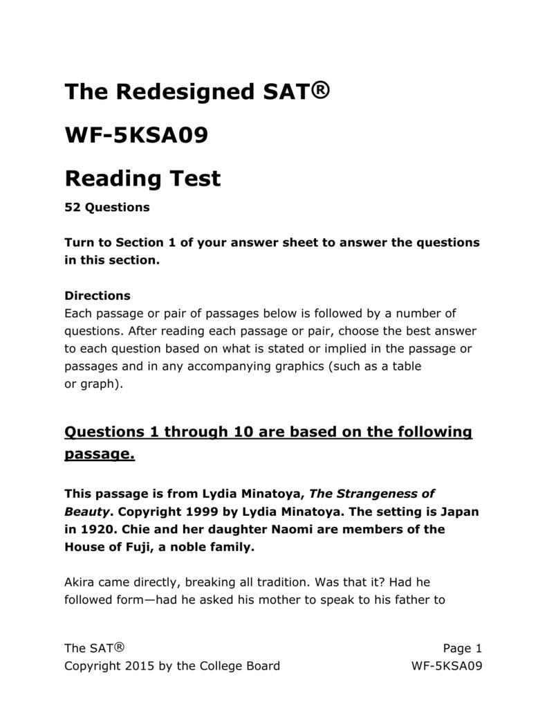 Test 1 Official Sat