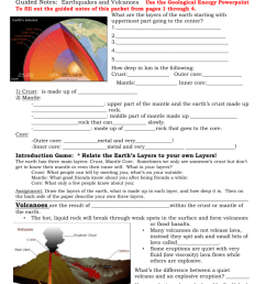 Answer Key for earthquakes \u0026 volcanoes packet [ 1024 x 791 Pixel ]