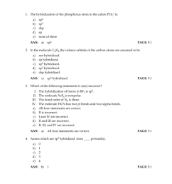 chapter 9 covalent bonding orbitals 1 the hybridization of the phosphorus atom in the cation ph2 is a b c d e sp2 sp3 dsp sp none of these ans a  [ 791 x 1024 Pixel ]