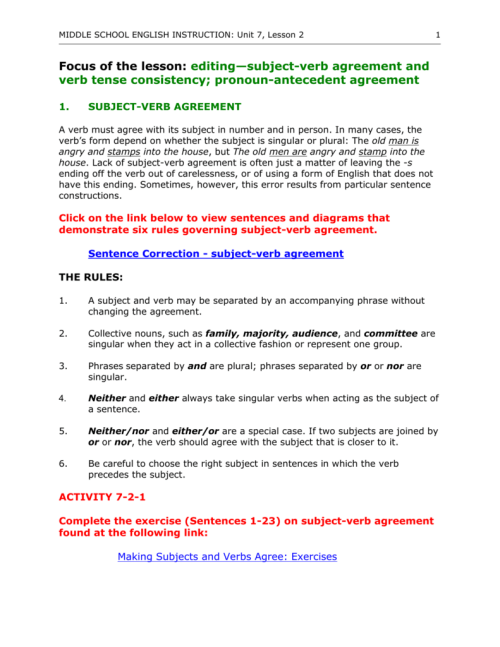 small resolution of Subject Verb Agreement For Collective Nouns Image collections - agreement  letter sample format