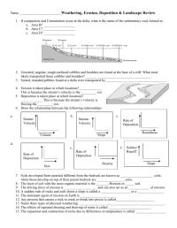 worksheet. Weathering Erosion And Deposition Worksheets ...