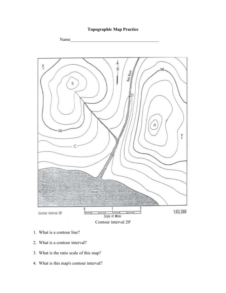 Topographic Map Practice