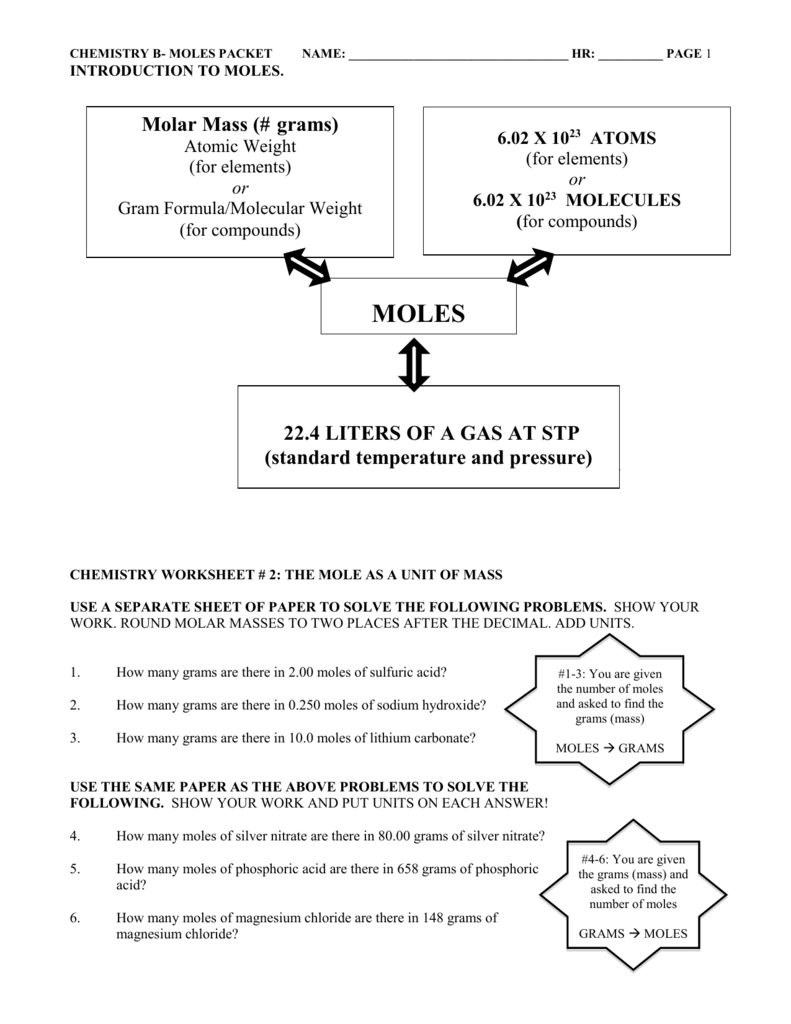 worksheet. The Mole And Volume Worksheet. Grass Fedjp