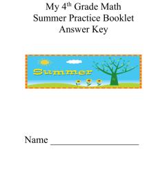 Fourth Grade Summer Packet Anser Key [ 1024 x 791 Pixel ]