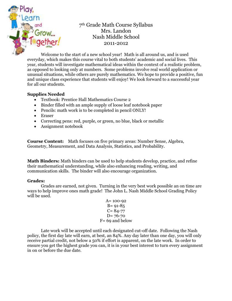 medium resolution of 7th Grade Math Course Syllabus