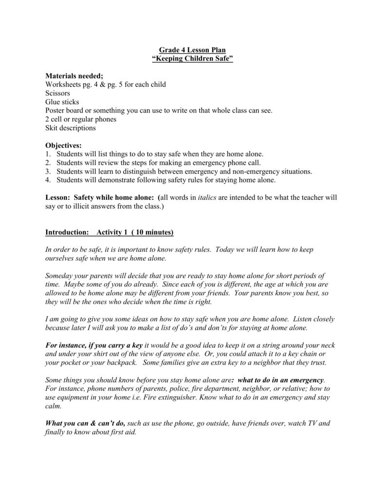 medium resolution of Grade 4 Lesson Plan