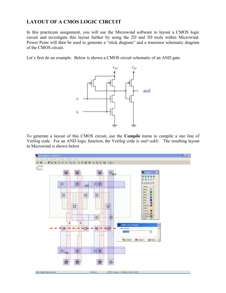 medium resolution of layout of a cmos logic circuit in this practicum assignment you will use the microwind software to layout a cmos logic circuit and investigate this layout